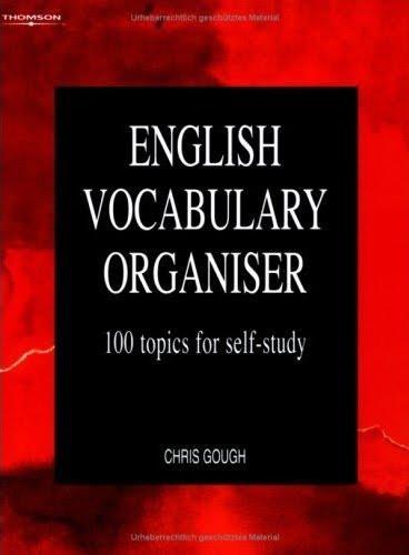 english vocabulary organiser